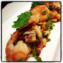 Spanish calamari and Shrimp Salad